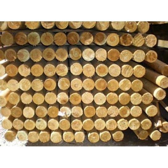 Palet postes torneados sin punta 250 x 8 cm Ø