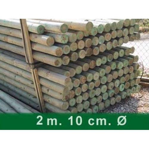 Palet postes torneados sin punta 200 x 10 cm Ø