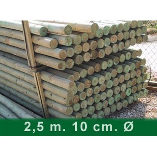 Palet postes torneados sin punta 250 x 10 cm Ø