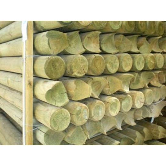 Palet postes torneados 150 x 12 cm diam. Media Luna 10 cm Ø