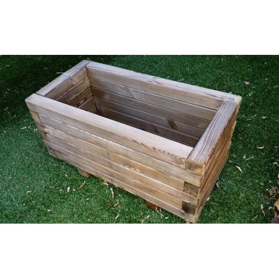 Jardinera rectangular pequeña