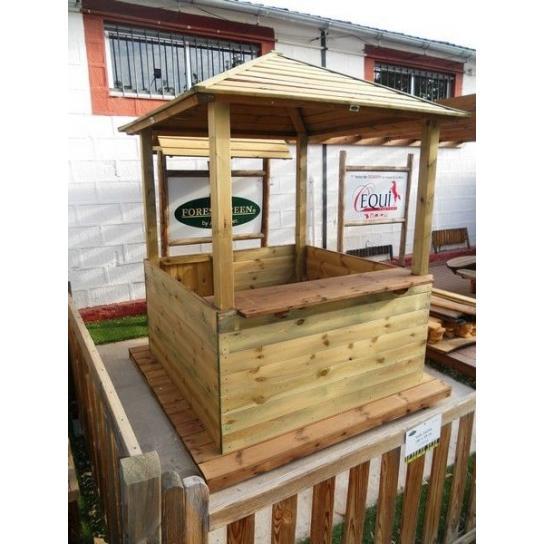 Kiosco abierto 2 x 2 m forestgreen for Casetas madera jardin baratas
