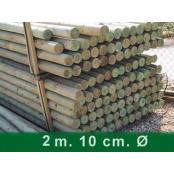 Postes pino 200 m x 10 cm Ø PALET 88 UNIDADES