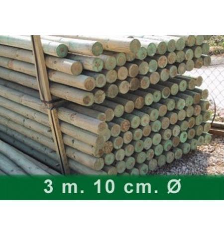 Palet postes torneados sin punta 300 x 10 cm Ø