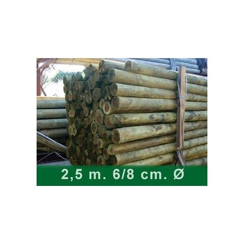 POSTES PINO 2,5 MTS 6/8 CM CON PUNTA